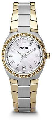 Fossil Women's AM4183 Serena Two-Tone Stainless Steel Watch with Link Bracelet
