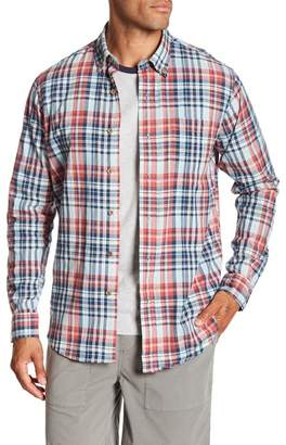 Tailor Vintage Madras Long Sleeve Plaid Shirt