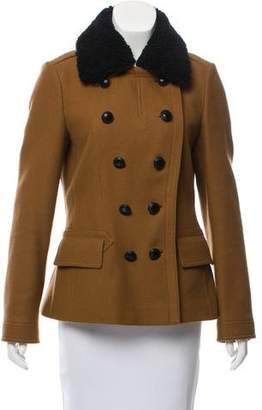 Burberry Shearling-Trimmed Wool Jacket