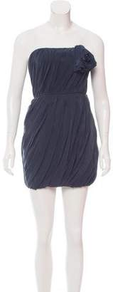 Adam Silk Strapless Dress