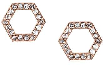 Astley Clarke 'Honeycomb' diamond stud earrings