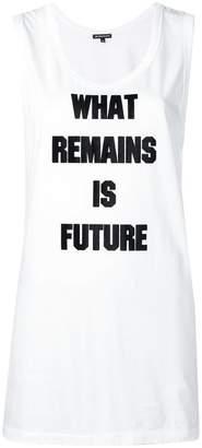Ann Demeulemeester slogan tank top