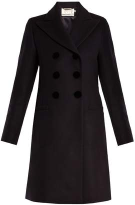 Goat Double-breasted wool-felt coat