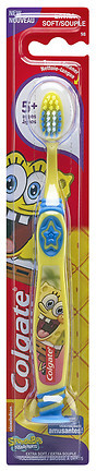 Colgate Kids Spongebob Squarepants Toothbrush with Suction Cup Extra Soft