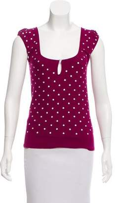 Marc by Marc Jacobs Polka Dot Knit Top