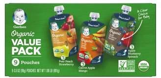 Gerber Organic 2nd Foods Baby Food Fruit & Veggie Value Pack - 3.5oz (9ct)