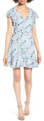 Rowa Row A Flutter Sleeve Minidress