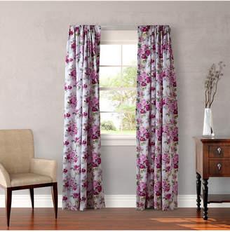 Laura Ashley Lidia Pink Rod Pocket Window Panels Bedding