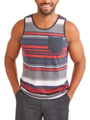 George Big Men's Stripe Tank Top With Pocket