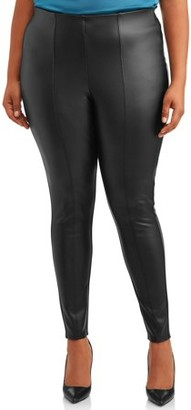 Alivia Ford Women's Plus Size Stretch Faux Leather Leggings