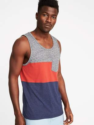 Old Navy Pieced Color-Block Tank for Men