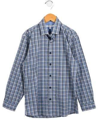 Isaac Mizrahi Boys' Plaid Button-Up Shirt