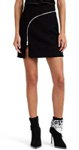 Alexander Wang Women's Zip-Detailed Metallic Wool-Blend Tweed Miniskirt - Black