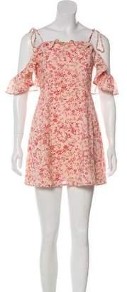 For Love & Lemons Floral Print Dress