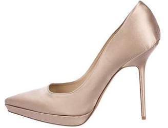 Burberry Satin Pointed-Toe Pumps
