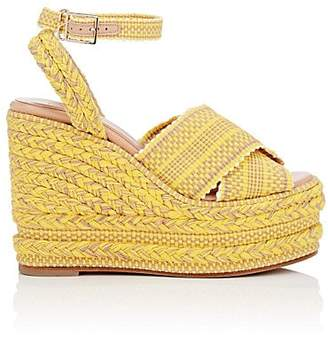 ANTOLINA Women's Candelaria Cotton Platform-Wedge Sandals - Yellow