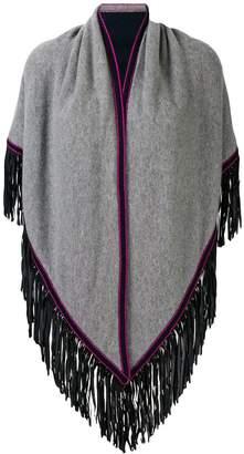 Antonia Zander fringe poncho scarf