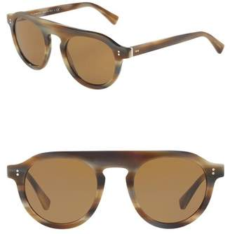 Dolce & Gabbana 50mm Round Sunglasses