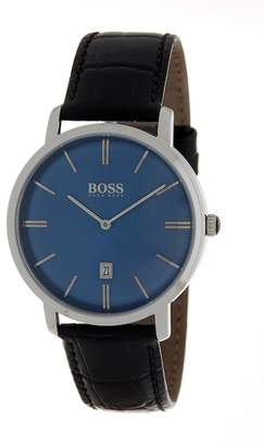 BOSS Men's Tradition Leather Watch, 40mm