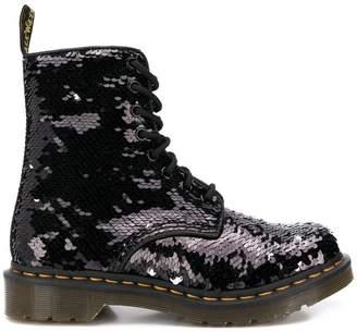 a1f742f4cc409 Dr. Martens 1460 Pascal reversible sequin boots