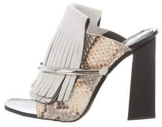 Proenza Schouler Python Kiltie Sandals