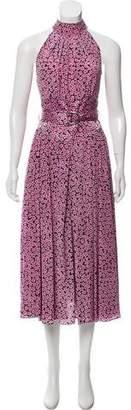 Diane von Furstenberg Silk Patterned Dress w/ Tags