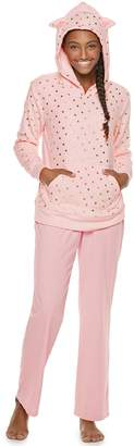 So Juniors' SO Plush Cat Hoodie & Pants Pajama Set