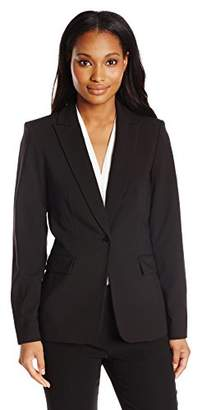 Lark & Ro Women's One-Button Blazer