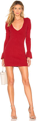 For Love & Lemons Oxford Long Sleeve Dress