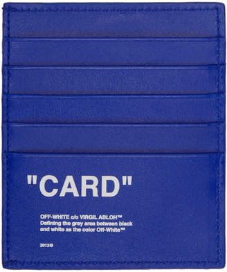 Off-White Blue Quote Card Holder