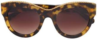 Stella McCartney Eyewear tortoiseshell Havana Oversized Square Sunglasses