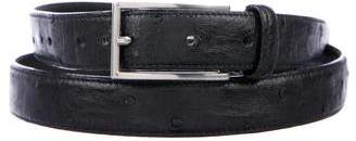 Prada Ostrich Skinny Belt