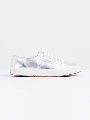 Superga New Womens Cotu Classic Sneakers In Metallic Silver Sneakers Low Top