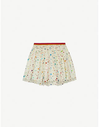 Stella McCartney Polka dot-print tulle skirt 4-15 years