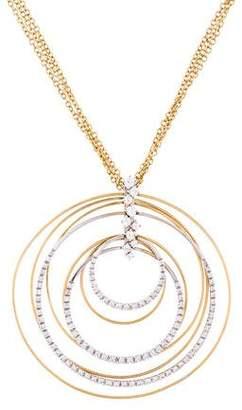 Fratelli Staurino 18K Diamond Multi-Circle Pendant Necklace
