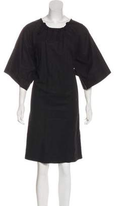 Lanvin Short Sleeve Midi Dress