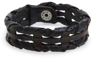 Orciani Wax Woven Leather Bracelet