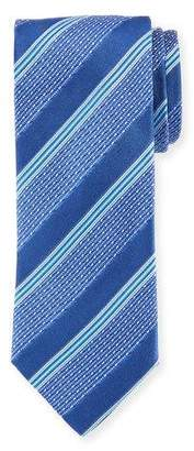 Eton Silk Wide Broken Stripes Tie