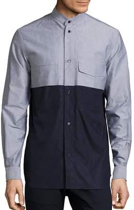 Diesel Black Gold Men's Mixed Media Cotton Shirt