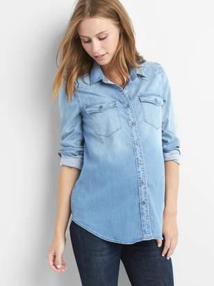 Gap Maternity TENCEL western shirt