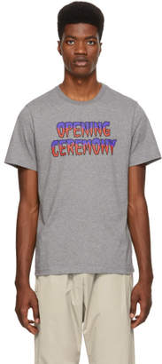 Opening Ceremony Grey Melted Logo T-Shirt