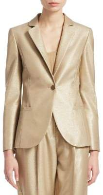 Emporio Armani Metallic Notch Lapel Blazer