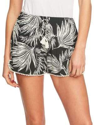 1 STATE 1.STATE Crochet Tropical-Print Shorts
