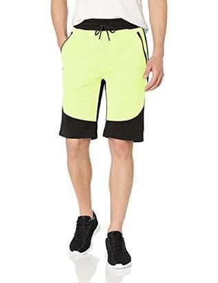 WT02 Men's Colorblock Tech Fleece Shorts,3