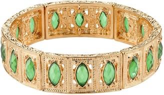 1928 Faceted Marquise Stretch Bracelet