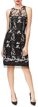 Betsey Johnson Embroidered Lace Sheath Dress