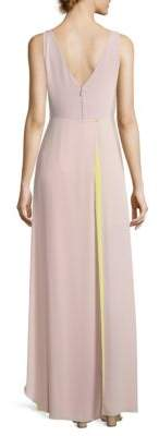 BCBGMAXAZRIA Sleeveless Surplice Gown
