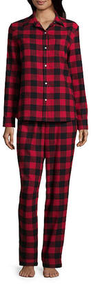 Co North Pole Trading Womens-Talls Pant Pajama Set 2-pc. Long Sleeve Family