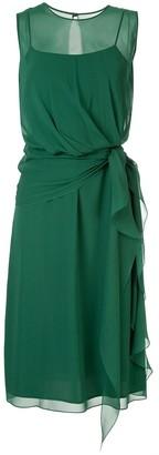 Max Mara semi sheer layered dress