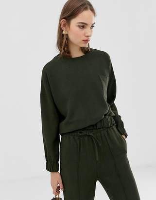 Asos melange two-piece woven sweatshirt